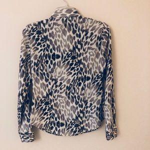 Craig Taylor Leopard Print Silk Shirt XXS